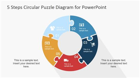 step circular puzzle diagram template  powerpoint