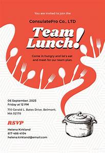 Free team lunch invitation template in adobe illustrator for Lunch roster template
