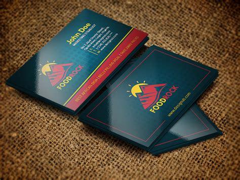 food related brand business card design template designub