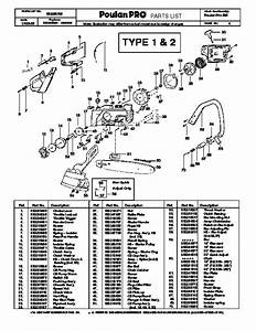 Poulan Pro 295 Chainsaw Parts Diagram