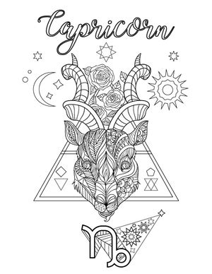 Capricorn Coloring Page | Coloring pages
