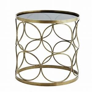 Table Basse Art Deco : table basse ronde metal laiton annees 30 style art deco madame stoltz h015bg ~ Teatrodelosmanantiales.com Idées de Décoration