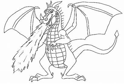 Dragon Feu Dragons Coloriage Crache Qui Dessin