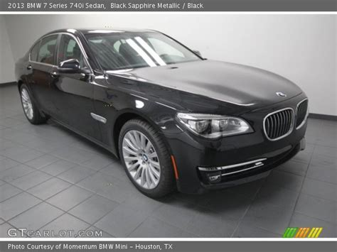 Black Sapphire Metallic  2013 Bmw 7 Series 740i Sedan