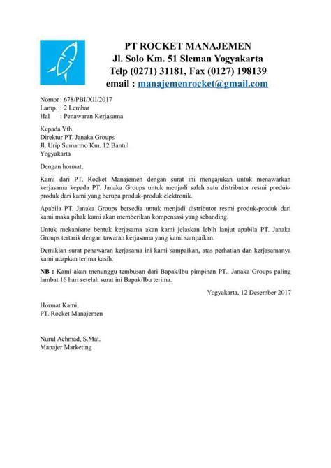 Contoh Surat Permintaan Dari Perusahan by Contoh Surat Permohonan Kerjasama Yang Baik Dan Benar