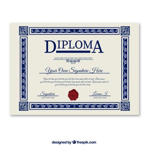 Diploma Template Diploma Template Vector Free