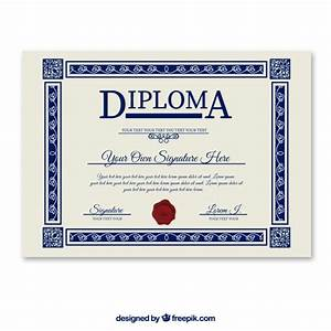 diploma template vector free download With free ged diploma template