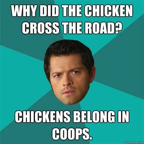 Anti Joke Chicken Why Did The Chicken Cross The Road