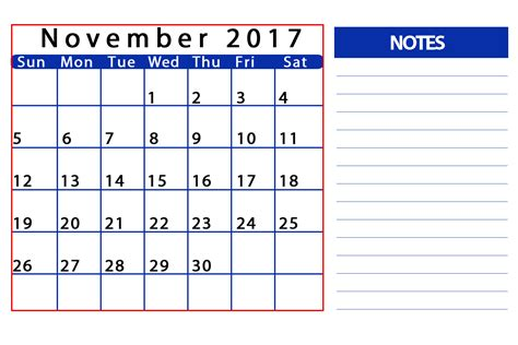 2017 printable calendar template holidays excel word november 2017 printable calendar template holidays excel 2017