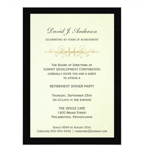 Free Templates For Retirement Invitations by Retirement Invitation Templates Free