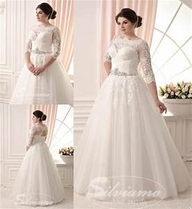 dress plus size wedding dresses a line wedding dresses With long sleeve lace wedding dress plus size