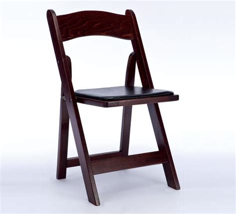 folding chair mahogany standard rentals
