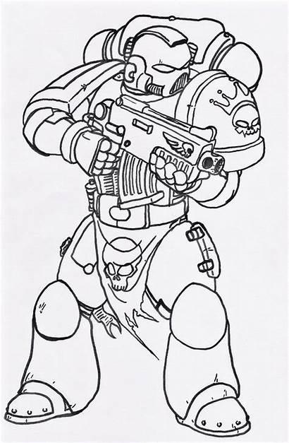 Marine Space Vanguard Uncoloured Deviantart 40k Drawings