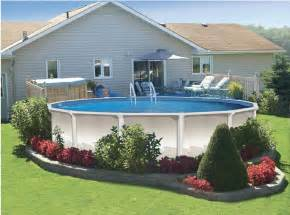 above ground pool landscaping ideas home decorating ideas