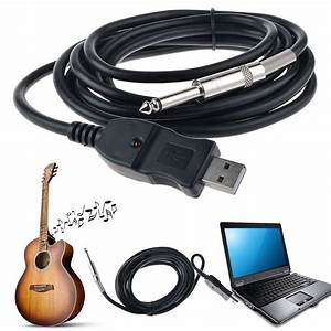 3m Guitar Bass 1  4 U0026 39  U0026 39  6 3mm Jack To Usb Link Connection Instrument Cable Adapter 753038763231