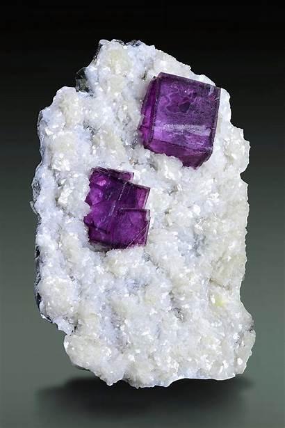Minerals Gemstones Dolomite Crystals Mine Fluorite Purple