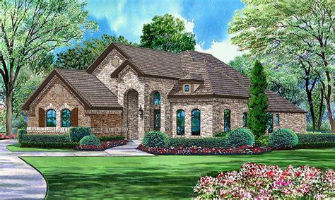 brick  stone  bedroom plan tx architectural designs house plans