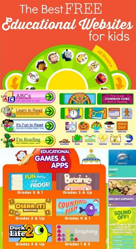 The Best Free Educational Websites For Kids Infographic  Ilite's Blog