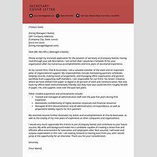 Secretary Cover Letter Example  Resume Genius