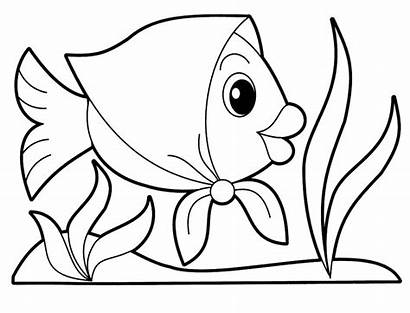 Coloring Animal Pages Fish Babies Animals Printable
