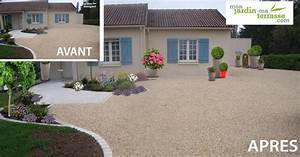 idee damenagement dune entree de maison monjardin With lovely idee de massif de jardin 11 amenager son jardin mediterraneen