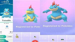 Totodile To Feraligatr Evolution Pokemon Go Youtube
