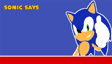 Pixilart - sonic says template by minerpig