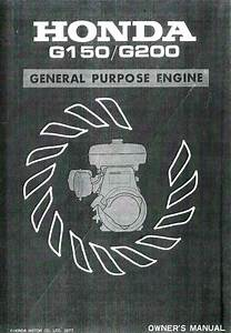 Honda G150 G200 Engine Owners Manual
