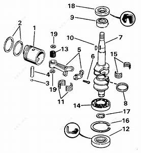 Johnson 1991 4 - J4rdheia  Crankshaft  U0026 Piston