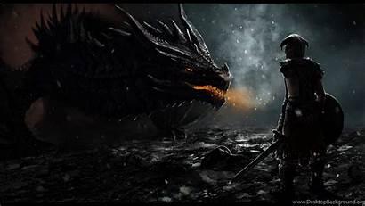 Skyrim Desktop Wallpapers Scrolls Elder Dragon Backgrounds