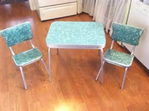 vintage antique formica laminate chrome childrens table