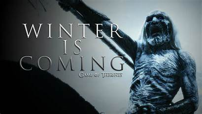 Thrones Coming Winter Walkers Wallpapers Backgrounds Desktop