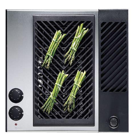 ge monogram electric grill component  built  downdraft vent zewyss ge appliances