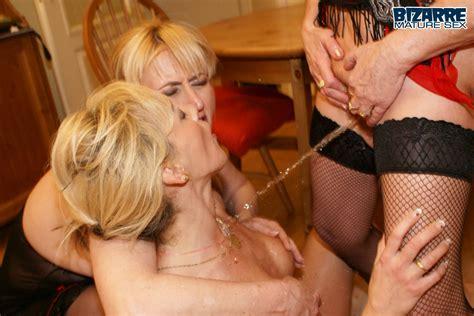 3 Mature Lesbians Having Kinky Piss Sex