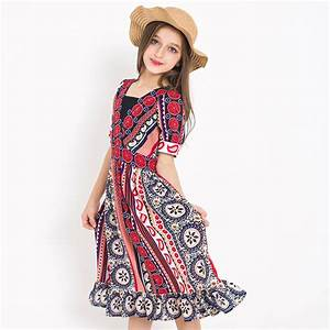 bohemian style beach dress girls summer cool cothing With robe indienne fille
