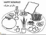 Nowruz Haftseen Norooz Haft sketch template
