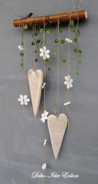 einfache aber suesse diy dekoration herzen und blumen