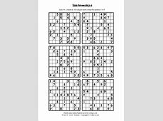 4 Best Images of Printable Hard Sudoku Puzzles 4 Per Page