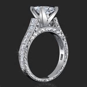 verragio princess cut engagement rings stacked diamonds classical square cathedral for any size or any shape center mount bbr334