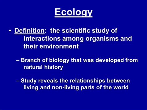 Ecosystem Definition Biology Ecology Definition The Scientific Study Of Interactions