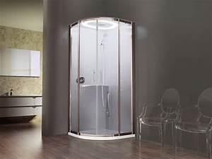 cabine de douche design eon novellini 1 4 cercle 90 x 90 With porte de douche coulissante avec spot led etanche pour salle de bain
