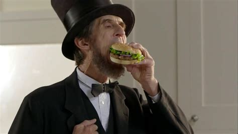 ball park beef patty tv commercial abraham lincoln