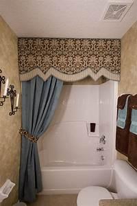 Designer Window Valances Love Hiding Shower Rings Bathroom Decor Bathroom Design