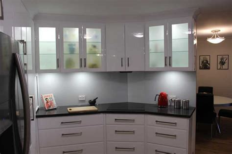 Slate grey and gloss white galley kitchen   Kitchen