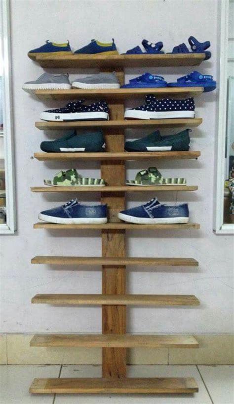 shoe racks wood pallet  kid diy shoe rack pallet