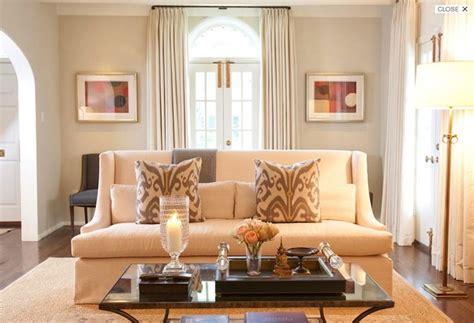 elegant formal living room design with greige walls paint