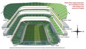 Aviva Stadium Stands by Seating Map