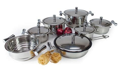 batterie de cuisine professionnelle batterie de cuisine 13 pièces groupon shopping