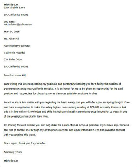 sample salary negotiation letter  examples  word