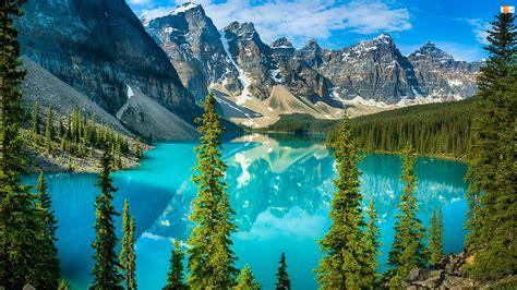 Drzewa, Kanada, Jezioro Moraine, Góry, Prowincja A
